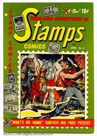 Stamps Comics #4 (Youthful Magazines, 1952). Condition: VF+