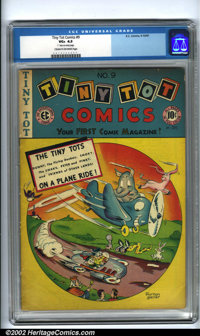 Tiny Tot Comics #9 (EC, 1947). Condition: CGC VG+ 4.5, cream to off-white pages. Overstreet 2001 GD 2.0 value = $19; FN...