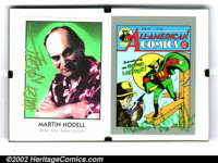 Martin Nodell Autographed Green Lantern Card. Autographed card depicting All-American Comics #1, signed by Green Lantern...