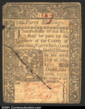 Colonial Notes:Connecticut, May 10, 1775, 40s, Connecticut, CT-182, VF, CC. A couple of min...