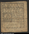 Colonial Notes:Connecticut, October 11, 1777, 7d, Connecticut, CT-218, VF. There is one min...
