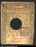 Colonial Notes:Connecticut, March 1, 1780, 10s, Connecticut, CT-223, XF, POC. There is a sm...