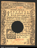 Colonial Notes:Connecticut, July 1, 1780, 9d, Connecticut, CT-233, XF, POC. A couple of sma...