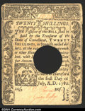 Colonial Notes:Connecticut, July 1, 1780, 10s, Connecticut, CT-238, VF, POC. There are some...
