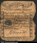 Colonial Notes:Massachusetts, December 1, 1779, 2s/6d, Massachusetts, MA-269, VG. The note ha...