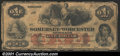 Obsoletes By State:Maryland, 1862 $1 Somerset & Worcester Savings Bank, Salisbury, MD, VG. ...