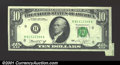 Error Notes:Attached Tabs, 1974 $10 Federal Reserve Note, Fr-2022-H, Choice CU. A nice att...
