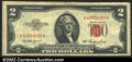 Small Size:Legal Tender Notes, 18 various small size $2 Red Seal notes in various grades from ...