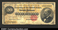 Large Size:Gold Certificates, 1882 $20 Gold Certificate, Fr-1178, VG. A low grade but problem...