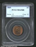 Indian Cents: , 1869 1C, RB