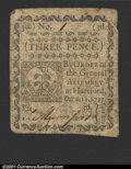 Colonial Notes:Connecticut, October 11, 1777, 3d, Connecticut, CT-215, VF, CC. ...