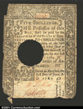 Colonial Notes:Connecticut, June 1, 1780, 5s, Connecticut, CT-229, Fine, POC. ...