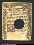 Colonial Notes:Connecticut, June 1, 1780, 10s, Connecticut, CT-230, XF, POC, and with a cut...