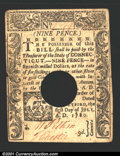 Colonial Notes:Connecticut, July 1, 1780, 9d, Connecticut, CT-233, VF-XF, POC. There is a s...