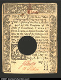 Colonial Notes:Connecticut, July 1, 1780, 10s, Connecticut, CT-238, XF, POC. ...
