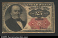 Fractional Currency:Fifth Issue, Fifth Issue 25c, Fr-1309, Fine-VF, with a teller stamp on the b...