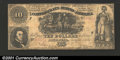 Confederate Notes:1861 Issues, 1861 $10 General Francis Marion's Sweet Potato Dinner; R.M.T. H...