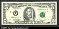 Error Notes:Gutter Folds, 1995 $5 Federal Reserve Note, Fr-1985-E, Fine-VF. This note cir...