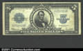 """Large Size:Silver Certificates, 1923 $5 Silver Certificate, Fr-282, VF. A problem-free """"Porthol..."""