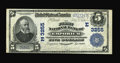 National Bank Notes:Pennsylvania, Emporium, PA - $5 1902 Plain Back Fr. 598 The First NB Ch. #(E)3255. A single fold is noted at center, though we must u...