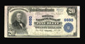 Pine Bluff, AR - $20 1902 Plain Back Fr. 650 The Simmons NB Ch. # 6680 This note is pen signed by woman assistant cashi...