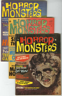 Horror Monsters Group (Charlton, 1961-62) Condition: Average FN. Issues #1, 4, 5, 6, 7, 8, and 9 are included here. Jerr...