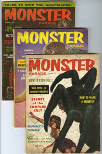 Monster Parade #1-3 Group (Magnum Publications, 1958) Condition: Average GD+. Jerry Weist's Comic Art Price Guide calls...