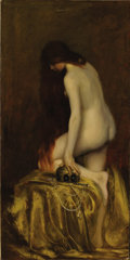 Fine Art - Painting, European:Antique  (Pre 1900), Attributed to JEAN-JACQUES HENNER (French 1829-1905).Salome. Oil on canvas. 72-1/4 x 36-1/4 inches (183.5 x 92.1cm). S...