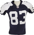 Football Collectibles:Uniforms, 2006 Terry Glenn Game Worn Throwback Uniform. The superstar wide receiver found the end zone twice while battling the Tampa...