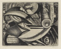 Prints:American, JOHN SLOAN (American 1870-1951). Mosaic, 1917. Etching andaquatint. 8-1/4 x 10-1/8 inches (21 x 25.7 cm). Signed in pen...