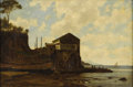 Western:Modern, ERNEST WADSWORTH LONGFELLOW (American 1845-1921). House On TheShore. Oil on canvas. 12-3/8 x 18-1/4 inches (31.4 x 46.4...