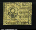Colonial Notes:Continental Congress Issues, Continental Currency May 10, 1775 $30 About New. Closely ma...