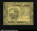 Colonial Notes:Continental Congress Issues, Continental Currency February 26, 1777 $6 Extremely Fine. T...