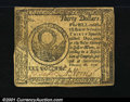 Colonial Notes:Continental Congress Issues, Continental Currency February 26, 1777 $30 Extremely Fine. ...