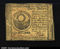 Colonial Notes:Continental Congress Issues, Continental Currency February 26, 1777 $30 Very Fine-Extremel...
