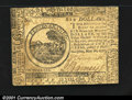 Colonial Notes:Continental Congress Issues, Continental Currency May 20, 1777 $6 Extremely Fine. Very p...