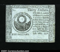 Colonial Notes:Continental Congress Issues, Continental Currency September 26, 1778 $30 Blue Paper Counte...