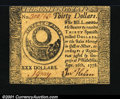 Colonial Notes:Continental Congress Issues, Continental Currency September 26, 1778 $30 Choice New. Clo...