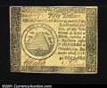 Colonial Notes:Continental Congress Issues, Continental Currency November 29, 1775 $50 Extremely Fine. ...