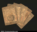 Colonial Notes:Continental Congress Issues, Continental Currency September 26, 1778 Grouping. The group...