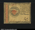 Colonial Notes:Continental Congress Issues, Continental Currency January 14, 1779 $4 Choice About New. ...