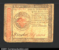 Colonial Notes:Continental Congress Issues, Continental Currency January 14, 1779 $4 Very Fine. The low...