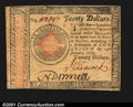 Colonial Notes:Continental Congress Issues, Continental Currency January 14, 1779 $20 Extremely Fine. W...