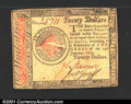 Colonial Notes:Continental Congress Issues, Continental Currency January 14, 1779 $20 Extremely Fine. T...