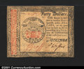 Colonial Notes:Continental Congress Issues, Continental Currency January 14, 1779 $40 Extremely Fine-Abou...