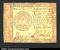 Colonial Notes:Continental Congress Issues, Continental Currency January 14, 1779 $80 Choice Very Fine....