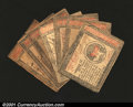 Colonial Notes:Continental Congress Issues, Continental Currency January 14, 1779 Grouping. The group c...