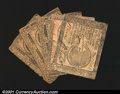 Colonial Notes:Continental Congress Issues, Continental Currency Mixed Grouping. May 9, 1776 $5 Very ...