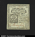 Colonial Notes:Connecticut, Connecticut October 11, 1777 2d Choice New. On blue paper a...