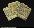 Colonial Notes:Connecticut, Connecticut October 11, 1777 2d, 3d, 4d, 5d, 7d. A full set...